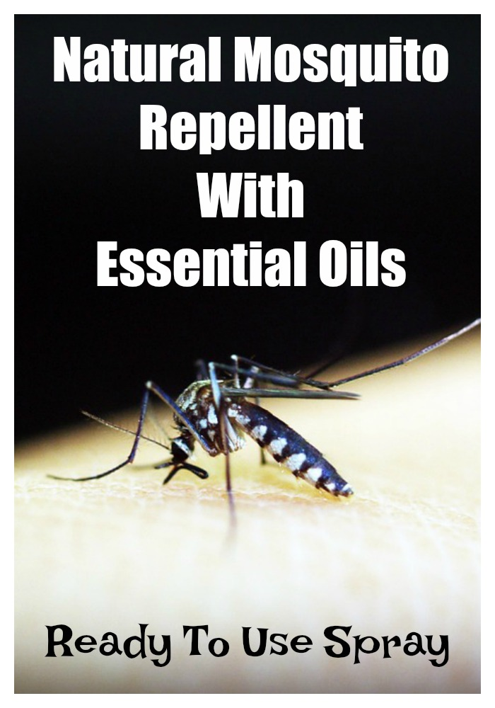 Natural mosquito repellent with essential oils