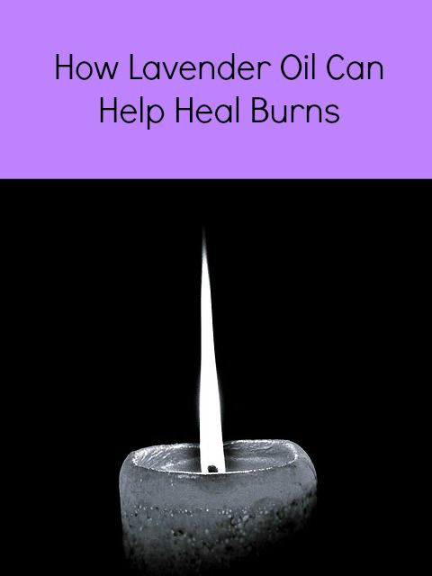 does lavender oil help burns