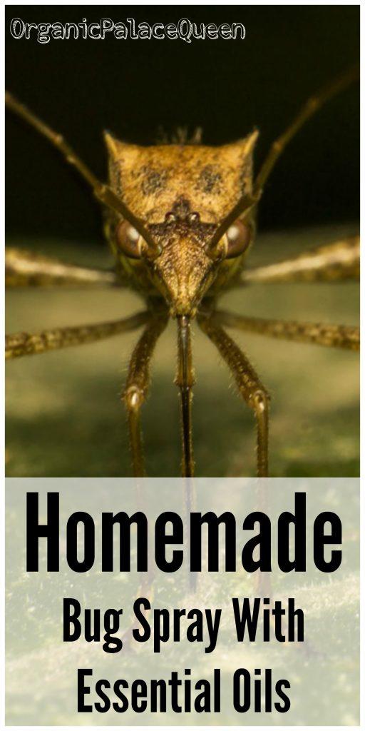 Homemade bug spray with essential oils