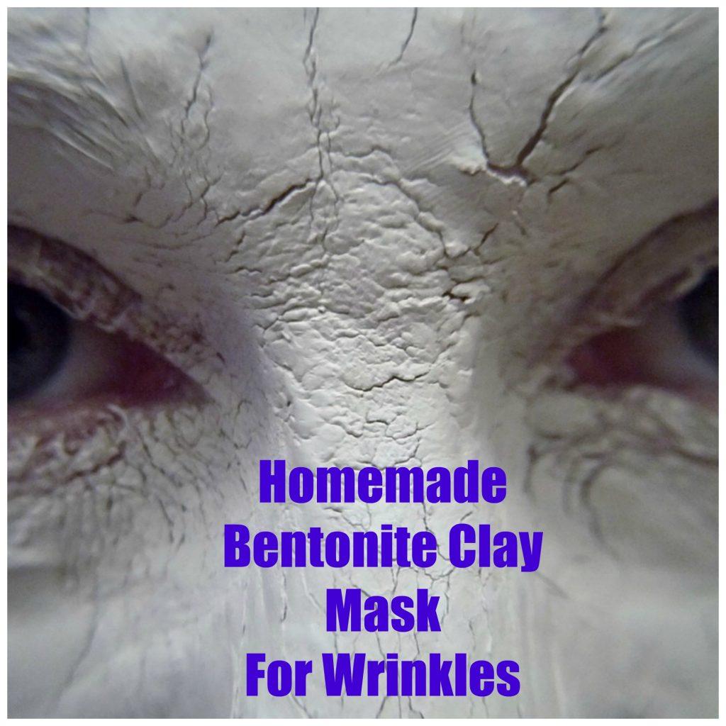 Homemade bentonite clay mask for wrinkles