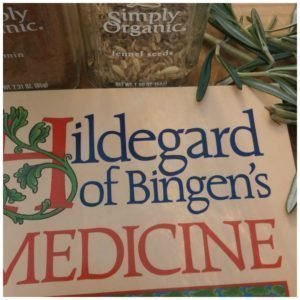 Saint Hildegard and herbs