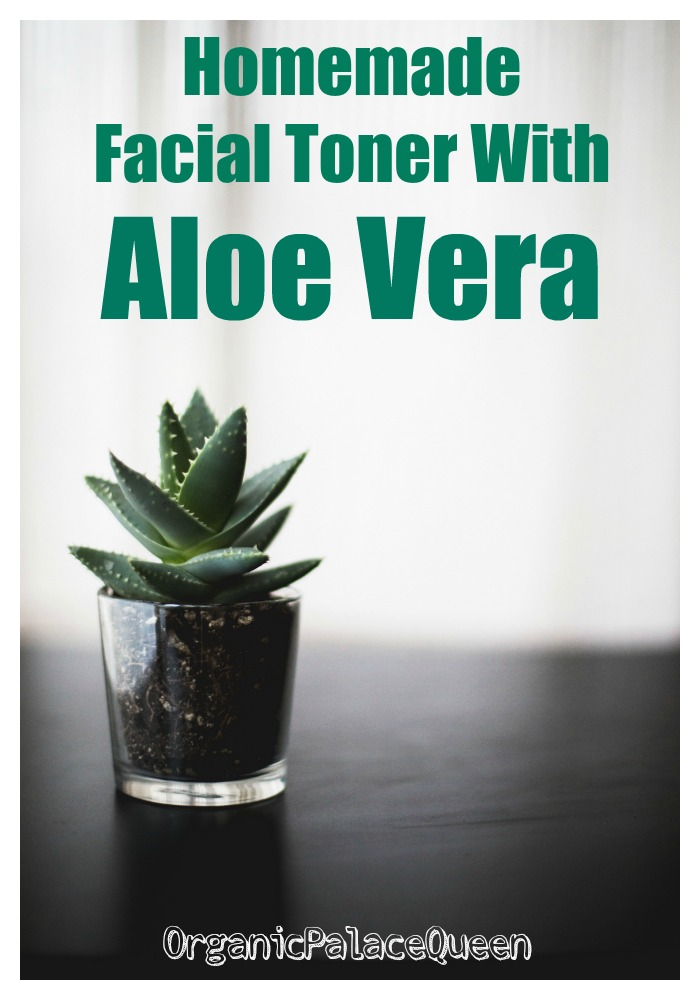 Homemade facial toner with aloe vera