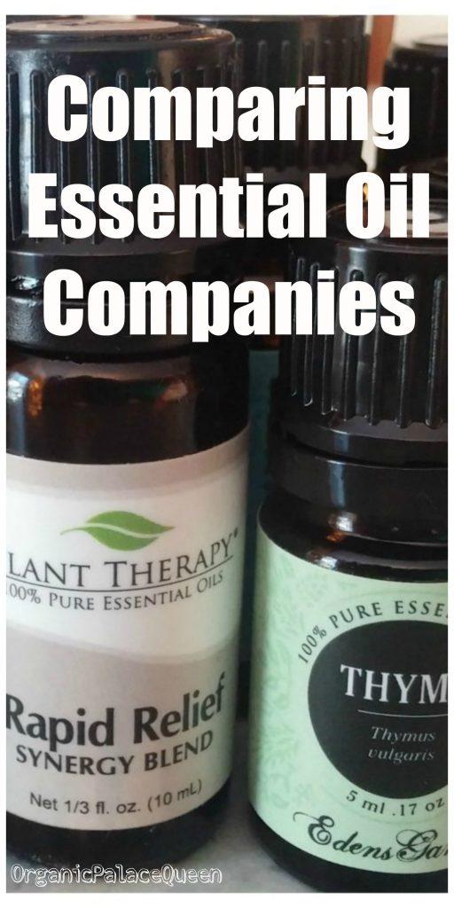 comparing essential oil companies