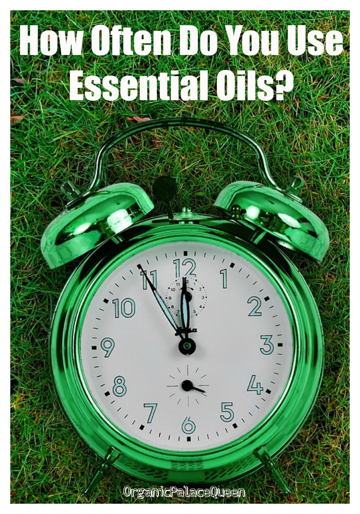 How many times a day do you use essential oils