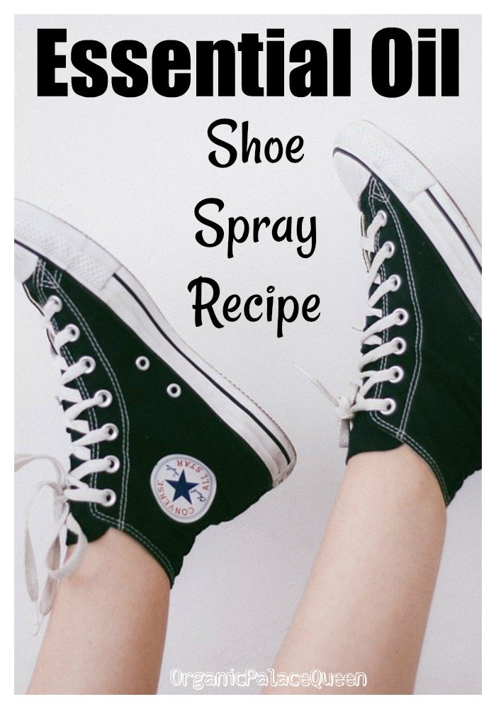 Essential oil shoe deodorizer spray