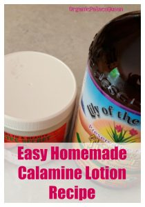 Calamine lotion with essential oils