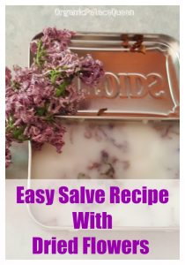 Easy salve recipe with dried flowers