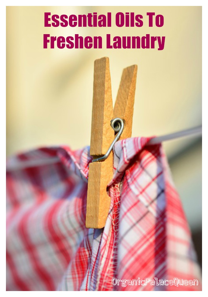 Essential oils to freshen laundry