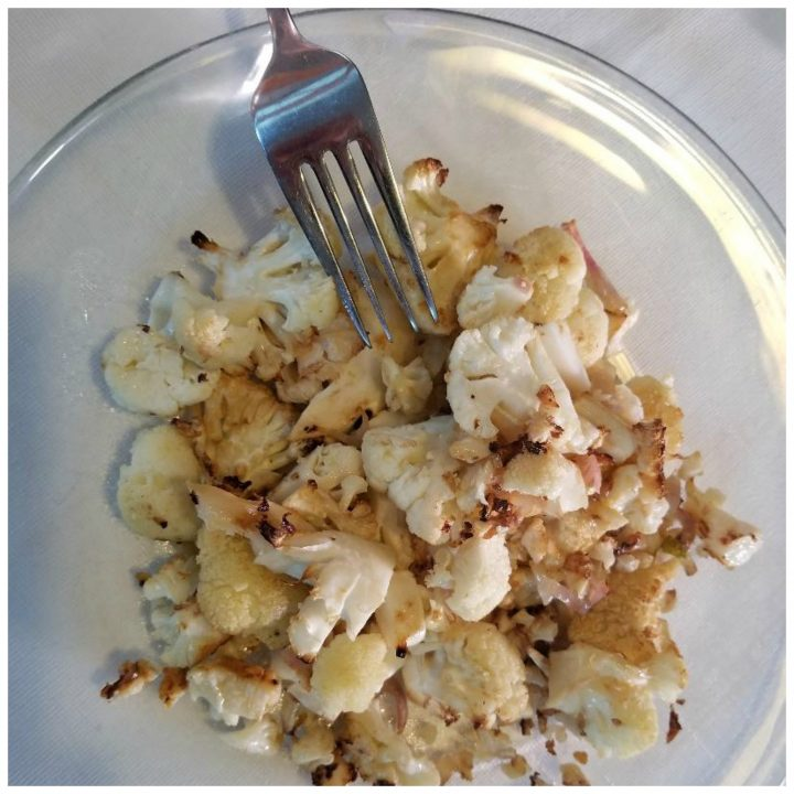 Roasted cauliflower and lemon recipe