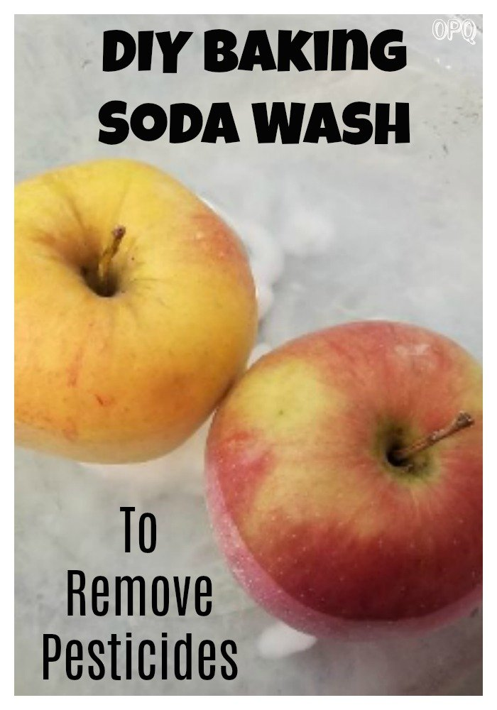 How to wash produce with baking soda