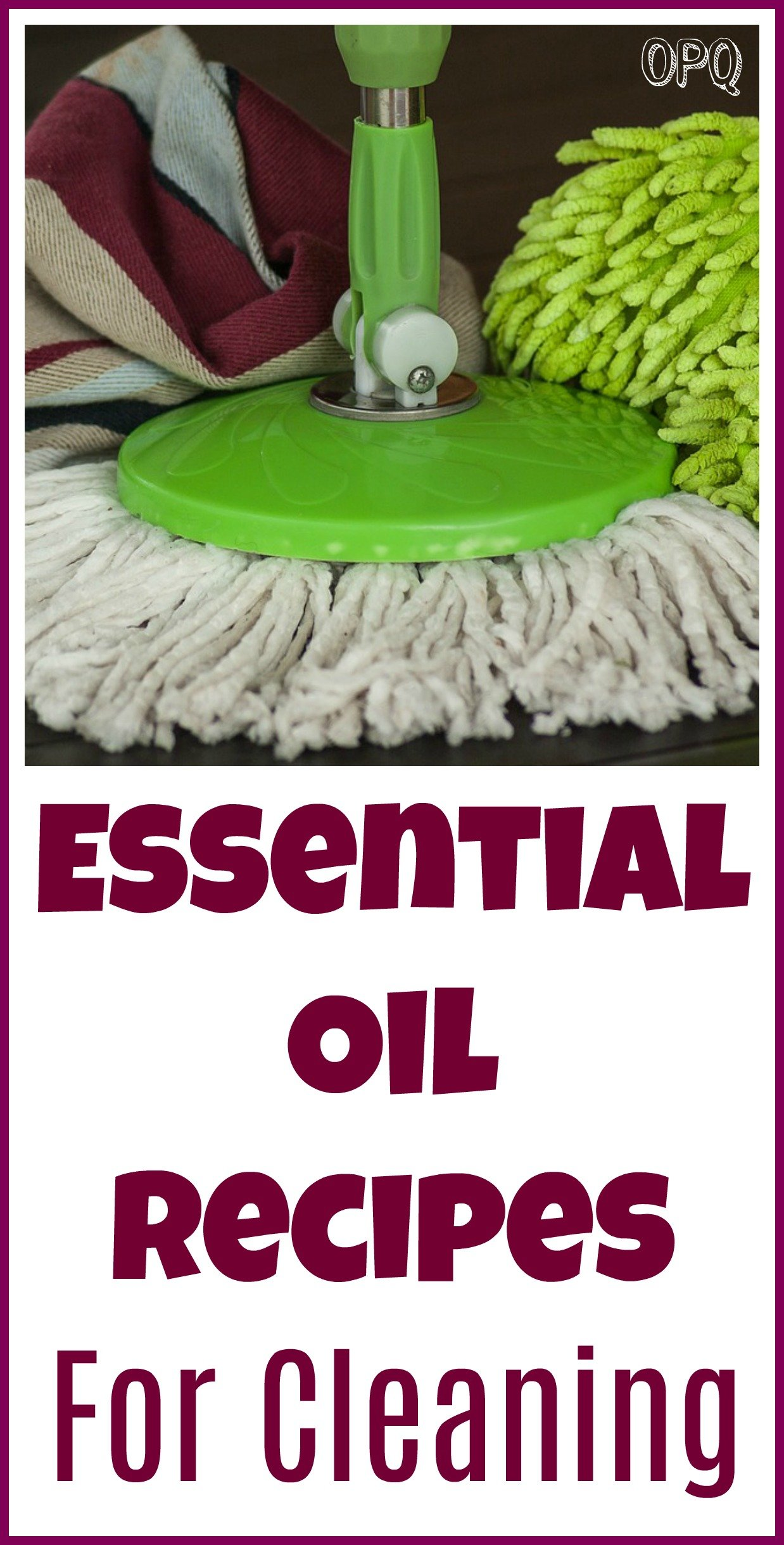 Cleaning essential oil recipes