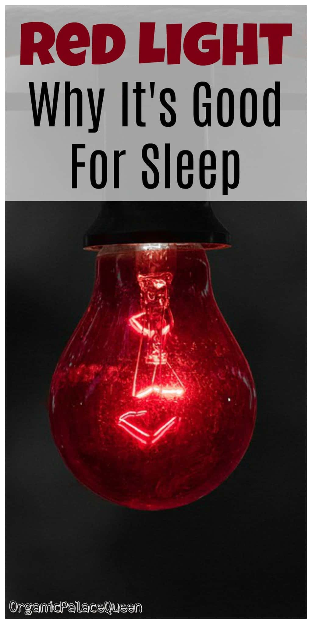 Red spectrum lights for sleep