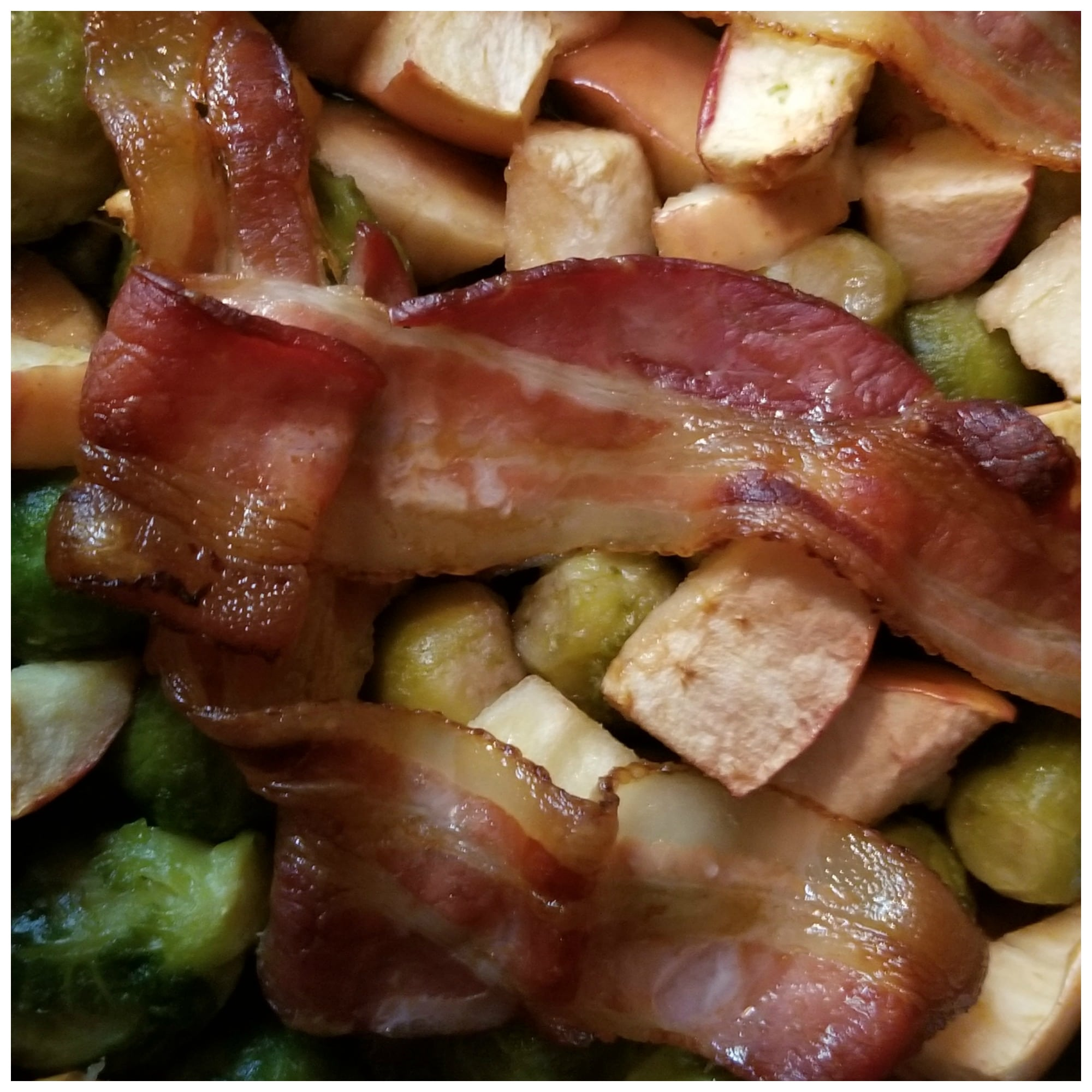 Roasted Brussel sprouts recipe with bacon